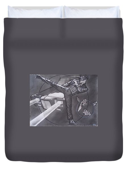 Bruce Lee Is Kato   1 Duvet Cover by Sean Connolly