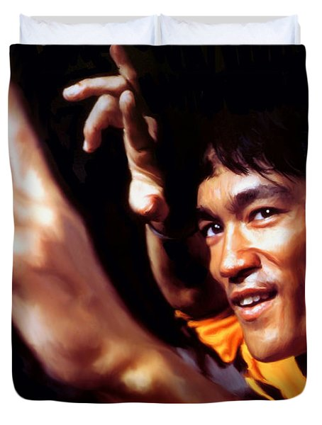Bruce Lee Duvet Cover by Paul Tagliamonte
