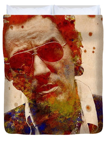 Bruce Springsteen Duvet Cover by Bekim Art