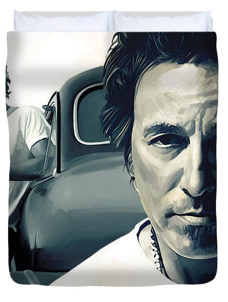 Bruce Springsteen The Boss Artwork 1 Duvet Cover by Sheraz A