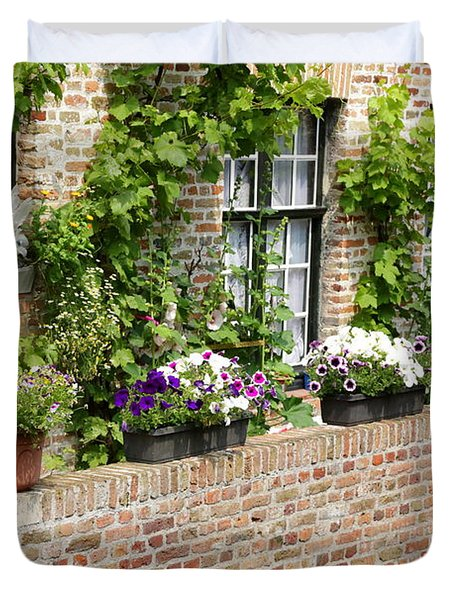 Brugge Balcony Duvet Cover by Carol Groenen
