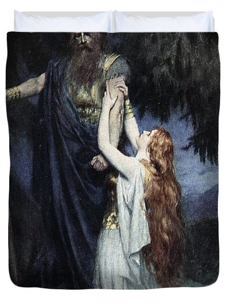 Brunhilde Knelt At His Feet, From The Duvet Cover