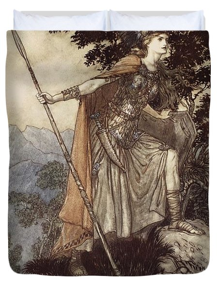 Brunnhilde From The Rhinegold And The Valkyrie Duvet Cover