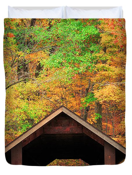 Brush Creek Covered Bridge Duvet Cover