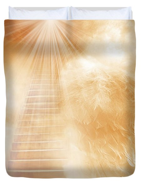 Brush Of Angels Wings Duvet Cover