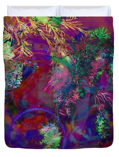 Brushing Circles  Duvet Cover by Meghan at FireBonnet Art
