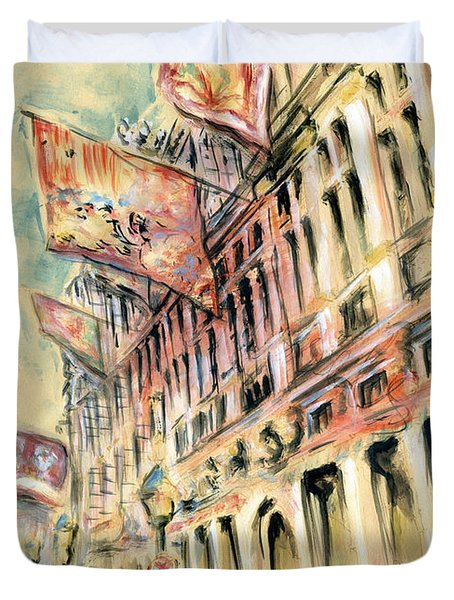 Brussels Grand Place - Watercolor Duvet Cover