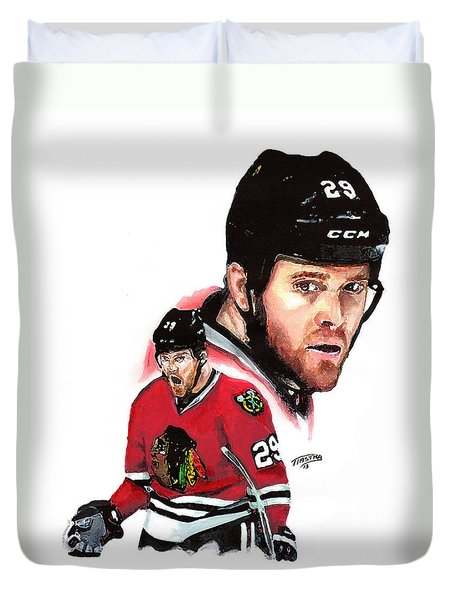 Bryan Bickell Duvet Cover by Jerry Tibstra