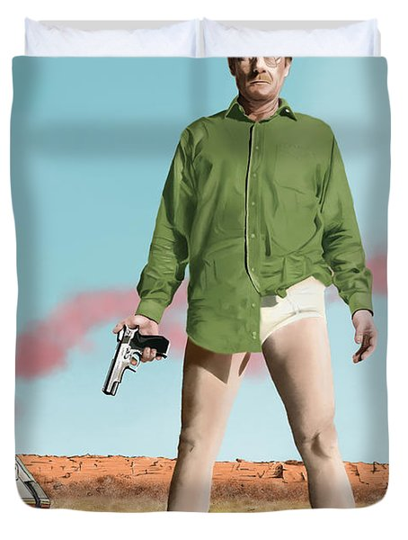 Bryan Cranston As Walter White  @ Tv Serie Breaking Bad Duvet Cover