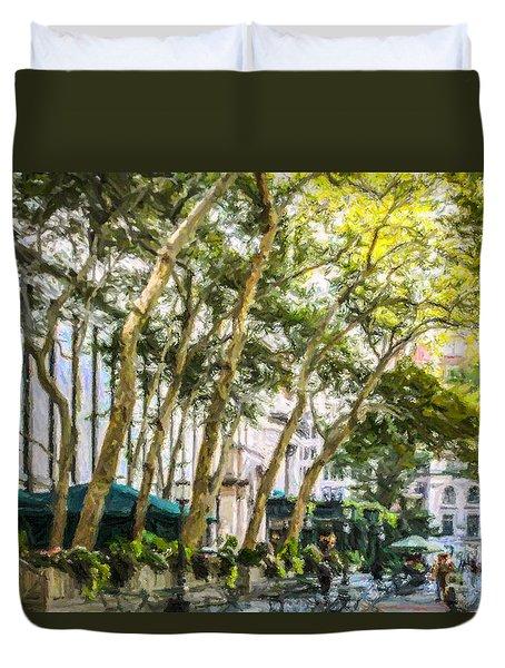 Bryant Park Midtown New York Usa Duvet Cover