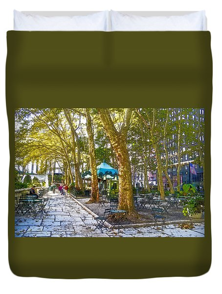 Bryant Park October Duvet Cover