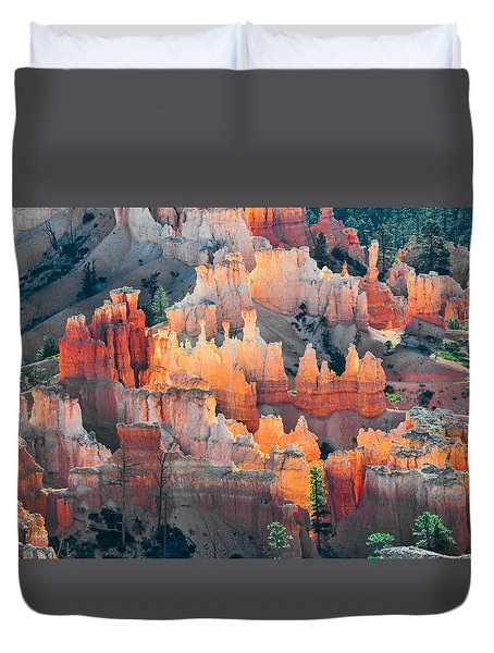 Bryce Canyon At Sunrise Duvet Cover