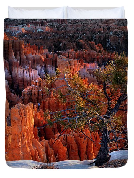 Bryce Canyon Winter Light Duvet Cover