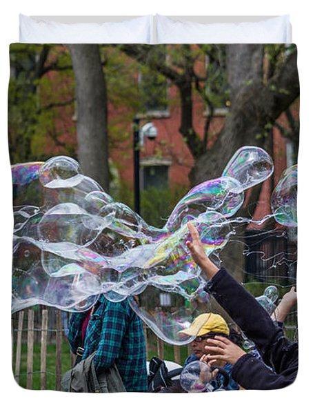 Bubble Attack Duvet Cover