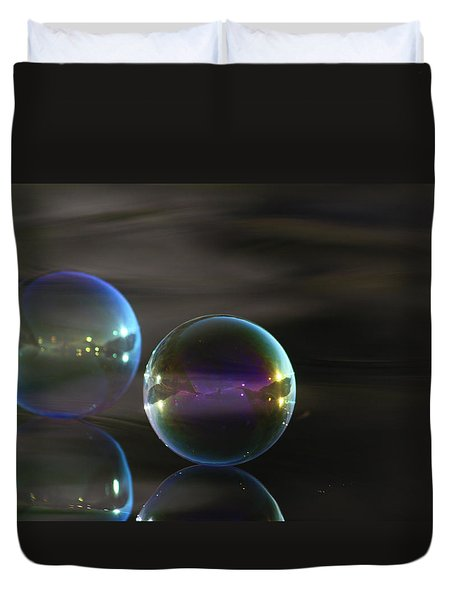 Bubble Bubble On The Water Duvet Cover