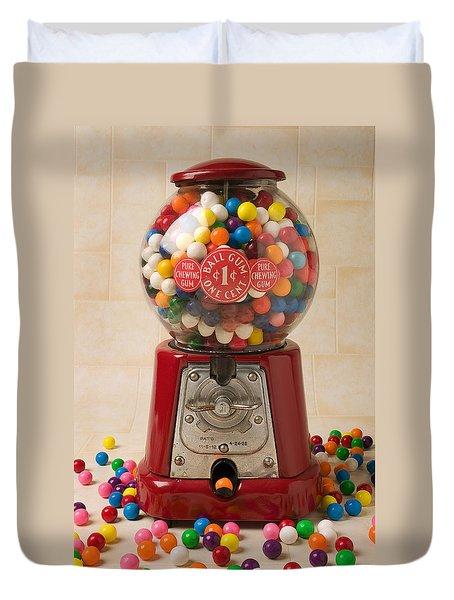 Bubble Gum Machine Duvet Cover by Garry Gay