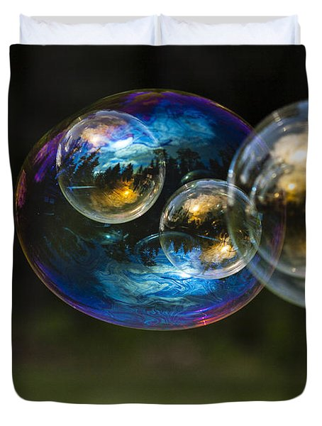 Bubble Perspective Duvet Cover by Darcy Michaelchuk