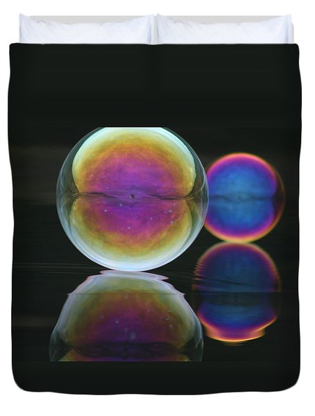 Bubble Spectacular Duvet Cover by Cathie Douglas