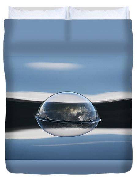 Bubble Symmetry Duvet Cover by Cathie Douglas