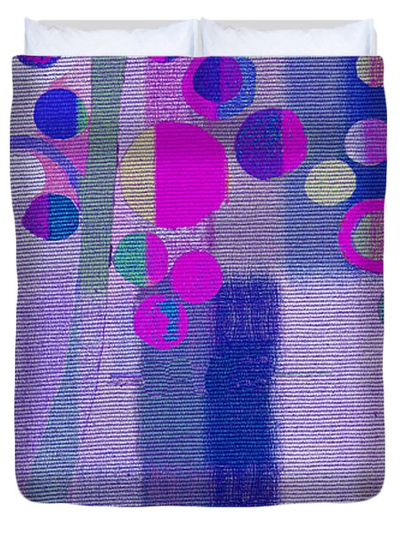 Bubble Tree - S85lc03 Duvet Cover by Variance Collections