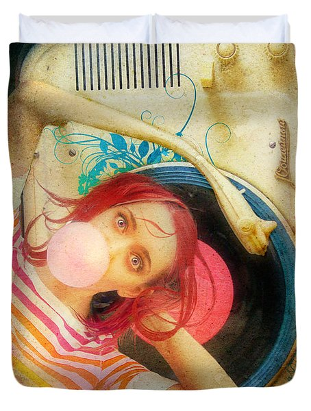 Bubblegum Pop Duvet Cover by Aimee Stewart