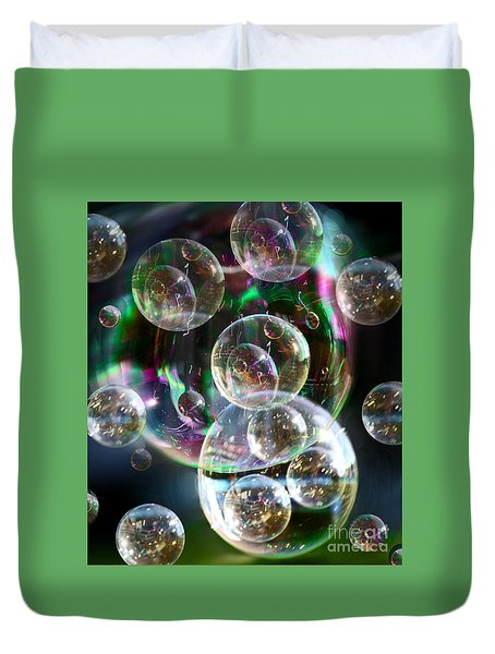 Bubbles And More Bubbles Duvet Cover