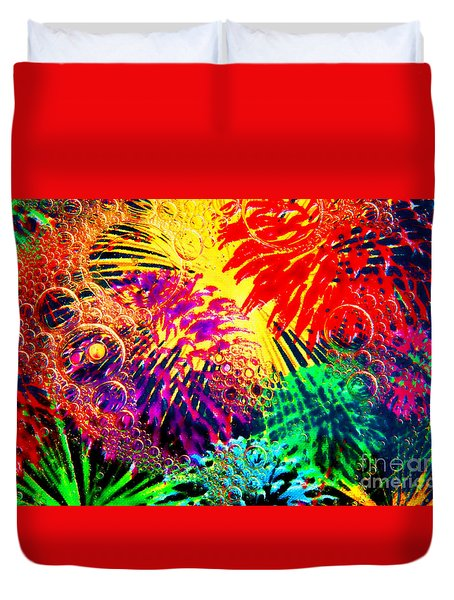 Duvet Cover featuring the photograph Bubbles by Geraldine DeBoer