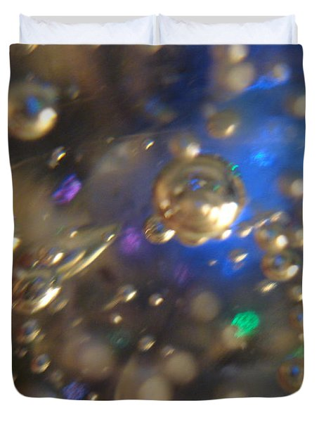 Bubbles Glass With Light Duvet Cover
