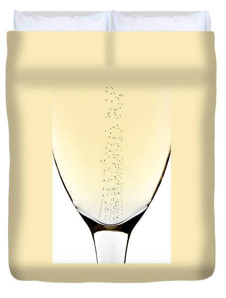 Bubbles In Champagne Duvet Cover by Johan Swanepoel