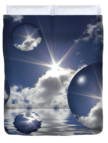 Bubbles In The Sun Duvet Cover