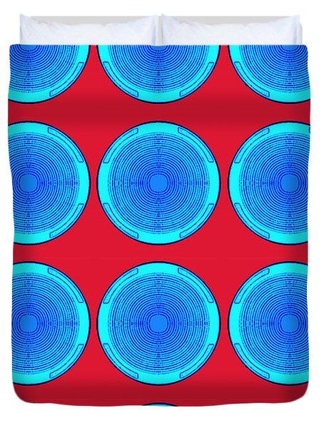 Bubbles Minty Blue Poster Duvet Cover