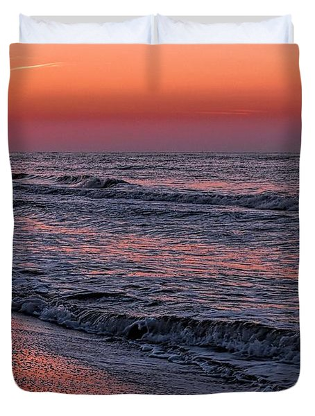 Duvet Cover featuring the digital art Bubbling Surf by Michael Thomas
