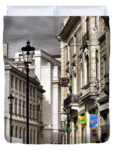 Bucharest The Little Paris Duvet Cover
