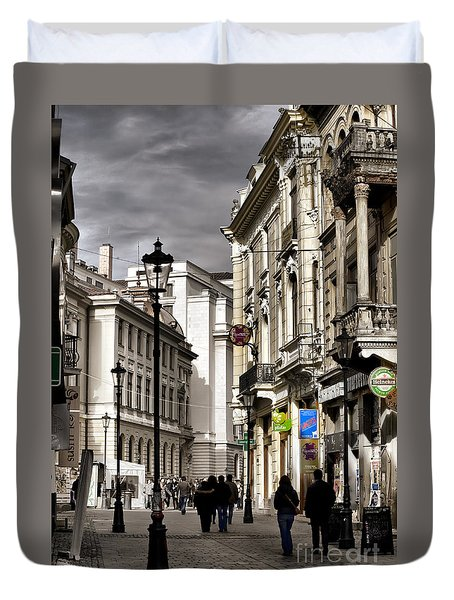 Bucharest The Little Paris Duvet Cover
