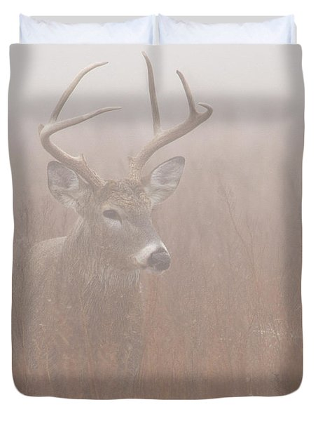 Buck In Fog Duvet Cover