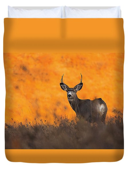Buck Pose Duvet Cover