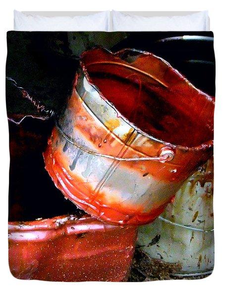 Buckets Duvet Cover by David Gilbert