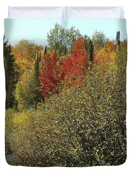 Buckety Creek Rolls By Fall Duvet Cover