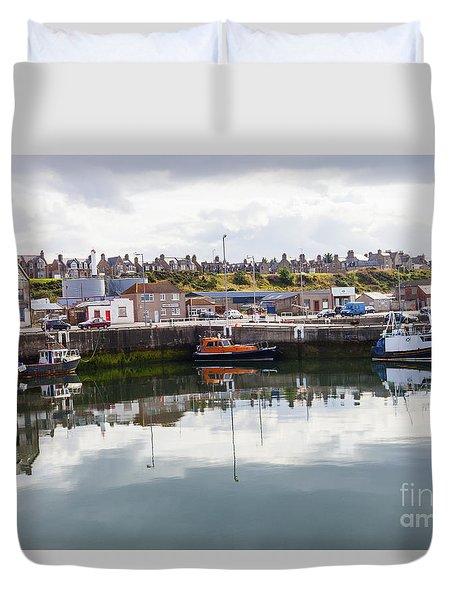 Buckie Harbour Duvet Cover