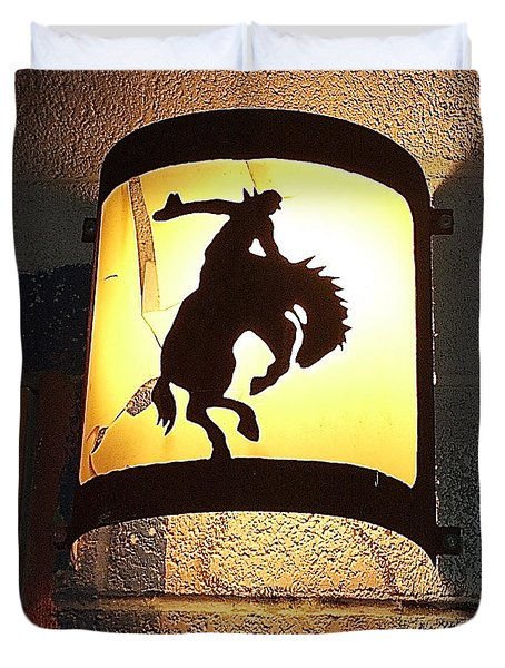 Bucking Bronc Light Chandler Arizona Duvet Cover