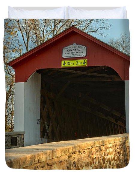 Bucks County Van Sant Covered Bridge Duvet Cover