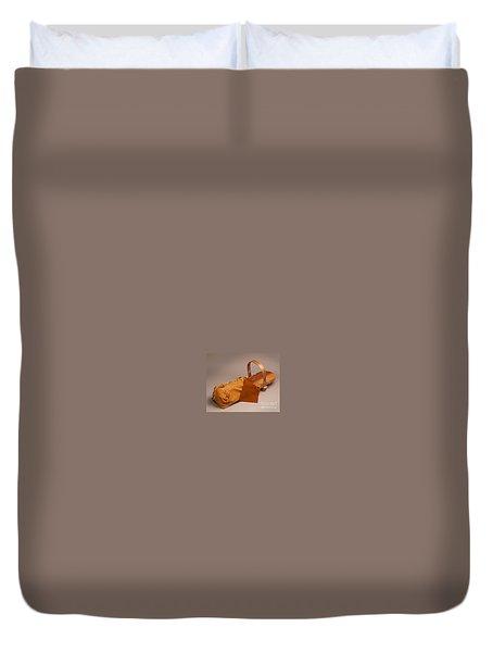 Buckskin Cradleboard Duvet Cover