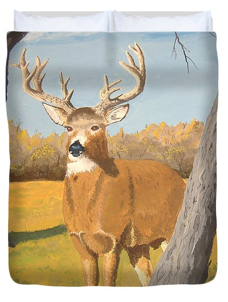 Bucky The Deer Duvet Cover by Norm Starks