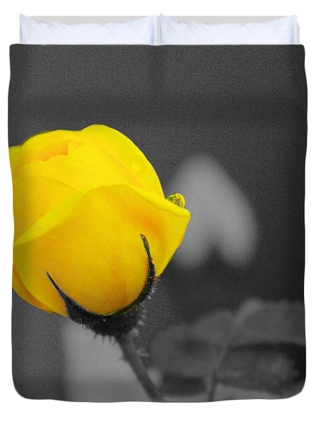 Bud - A Splash Of Yellow Duvet Cover by John  Greaves
