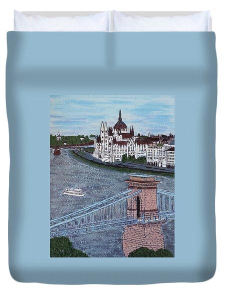 Budapest Bridge Duvet Cover