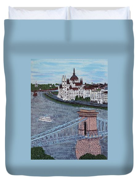 Budapest Bridge Duvet Cover by Jasna Gopic