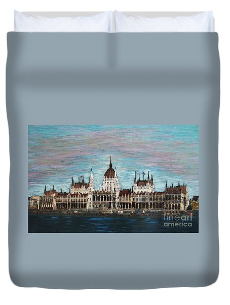 Budapest Parliament By Jasna Gopic Duvet Cover