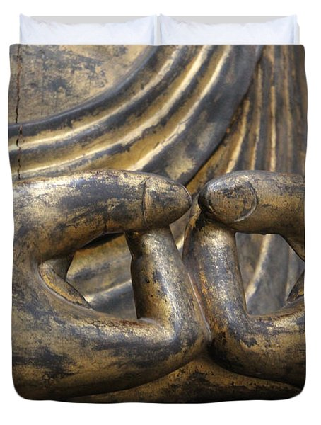 Buddha 3 Duvet Cover by Lynn Sprowl