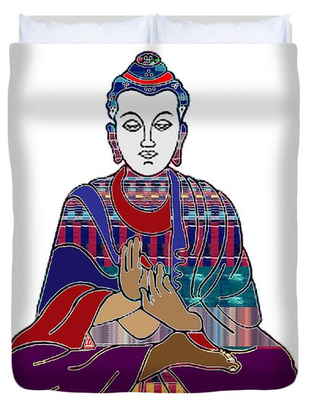 Buddha In Meditation Buddhism Master Teacher Spiritual Guru By Navinjoshi At Fineartamerica.com Duvet Cover by Navin Joshi