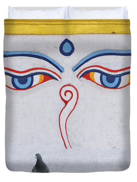 Buddha Eyes Duvet Cover